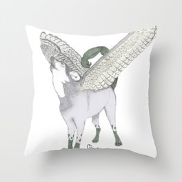 Zodiacal Chimera: The wolf Throw Pillow