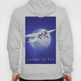 Learn to Fly vintage poster Hoody