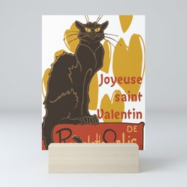 Joyeuse saint Valentin Le Chat Noir Parody Mini Art Print
