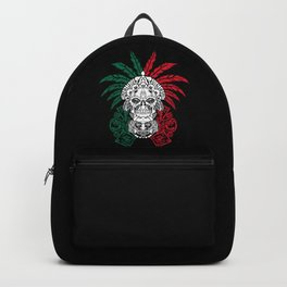 Aztec Warrior Skull - Mexican Ancestors - Mexico Roots Backpack
