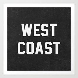West Coast - black version Art Print