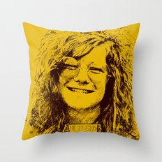 27 Club - Joplin Throw Pillow