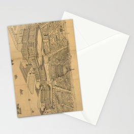 Vintage Pictorial Map of Washington D.C. (1872) Stationery Cards