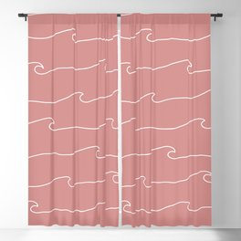 Waves & Lines - Pattern - Dusty Pink Blackout Curtain