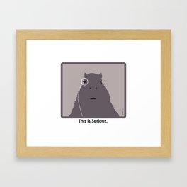 Professor Capybara III Framed Art Print