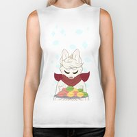 macaron Biker Tanks featuring Macaron Time by Timid Arts