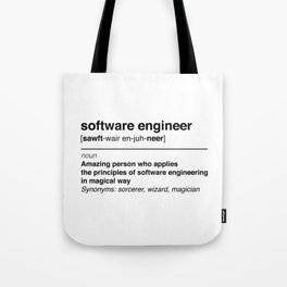 Software Engineer definition Tote Bag