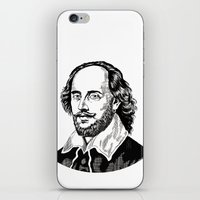 shakespeare iPhone & iPod Skins featuring Shakespeare by OnaVonVerdoux