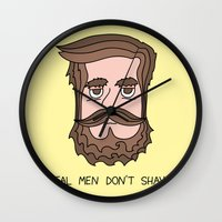 beard Wall Clocks featuring Beard by My Big Fat Brand