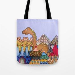 Dinosaur in Egypt Tote Bag