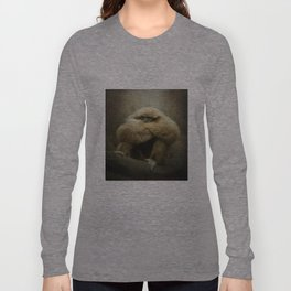Study of a Gibbon - The Thinker Long Sleeve T-shirt