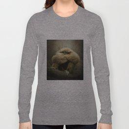 Study of a Gibbon - The Thinker Long Sleeve T-shirt