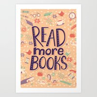 Read more books Art Print