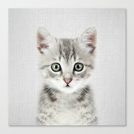 Kitten - Colorful Canvas Print