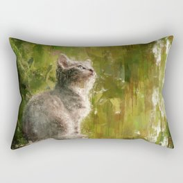 Cute abstract kitten Rectangular Pillow