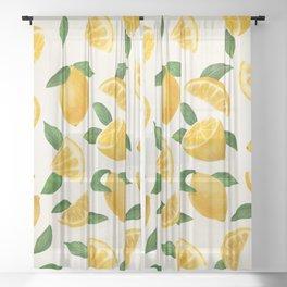 Lemons Sheer Curtain