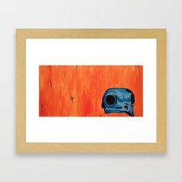 Owl Skull Framed Art Print