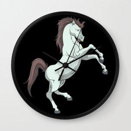 Horse rears up Wall Clock