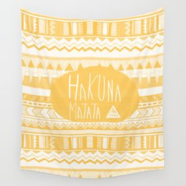Hakuna Matata Yellow Wall Tapestry