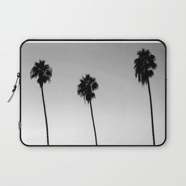 Black and White San Diego Palms - California Laptop Sleeve