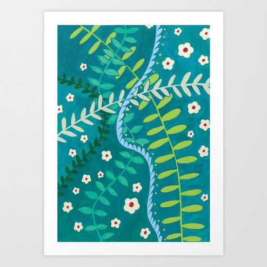 Tangled Vines Art Print