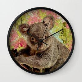 Koala Bear Digital Art Wall Clock