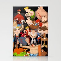 street fighter Stationery Cards featuring Street Fighter by Peerro