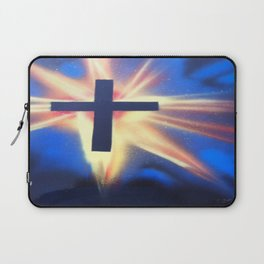 Glowing Space Cross Laptop Sleeve