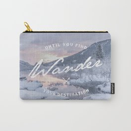 Wanderlust snow landscape winter sunset typography Carry-All Pouch
