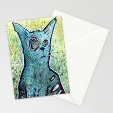 Kuro the Zombie Cat Stationery Cards