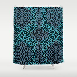 celtic blue Shower Curtain