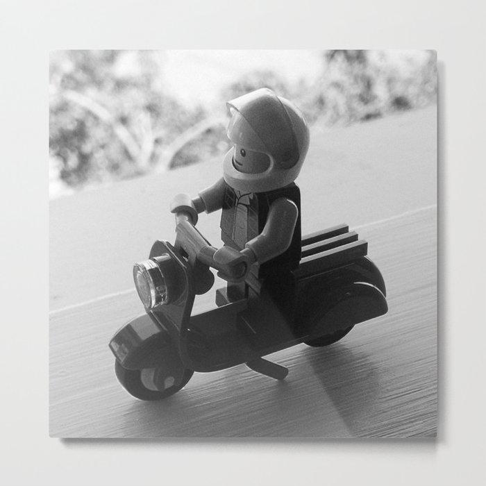 Scoot Metal Print