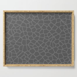 Staklo (Gray on Gray) Serving Tray