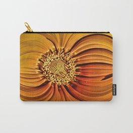 Orange Gazania Design Carry-All Pouch