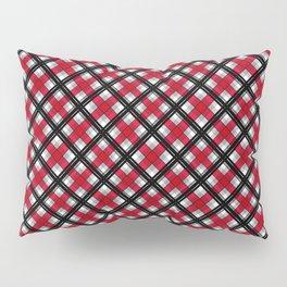 Tartan , red , black , gray Pillow Sham