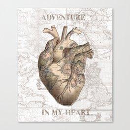 adventure heart-world map 1 Canvas Print