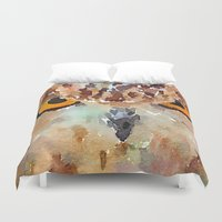 owl Duvet Covers featuring Owl by contemporary