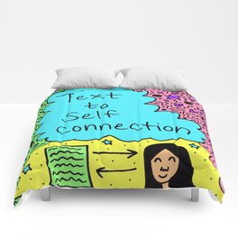 Text to Self Connection Comforters