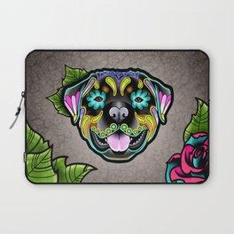 Rottweiler - Day of the Dead Sugar Skull Dog Laptop Sleeve