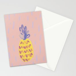 Pineapple Memphis #pineapple #pink Stationery Cards