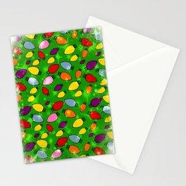 Christmas Bulb Popart by Nico Bielow Stationery Cards