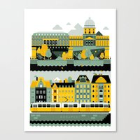 budapest Canvas Prints featuring Budapest by koivo