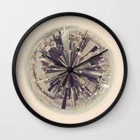 manhattan Wall Clocks featuring Manhattan by katievanmeter