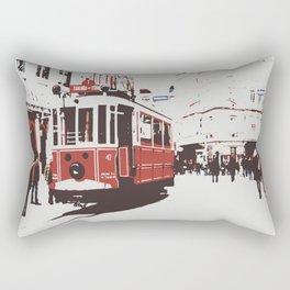 tram in Beyoglu Rectangular Pillow
