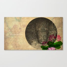lotus buddha Canvas Print