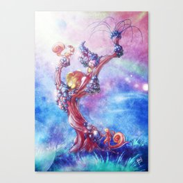 Blowing Canvas Print