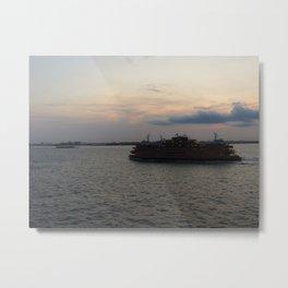 Staten Island Ferry At Dusk Metal Print