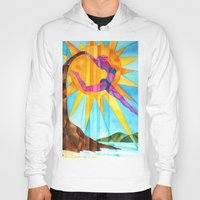 brand new Hoodies featuring Brand New Day by Heather Torres Art