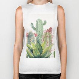 Cactus Watercolor Biker Tank