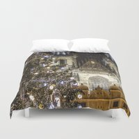 new year Duvet Covers featuring New Year 3 by Veronika